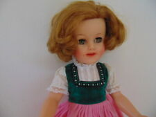 "Ideal Shirley Temple Doll 15"" St-15N 1950(s) Lovely Dress *C1"