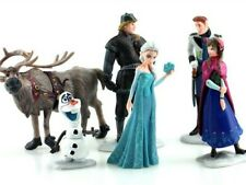Frozen Figurines Set of 6 Birthday Cake Toppers Gift Plastic Toy Doll Decoration
