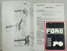 Ford 2000 3000 3055 4000 5000 Bedienungsanleitung Betriebsanleitung 1975