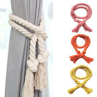 2Pcs Cotton Linen weaving Rope Curtain Tieback Holder Durable Window Decoration