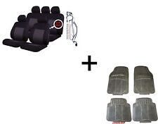 EALING TRADITIONAL UNIVERSAL CAR SEAT COVERS PROTECTORS + MATCHING RUBBER MATS