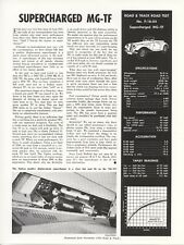 Road & Track Article Reprint from November 1954 Test F-16-54 Supercharged MG-TF
