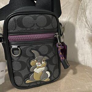 DISNEY X Men's Phone COACH 89902 TERRAIN CROSSBODY SIGNATURE  Bag Thumper Black