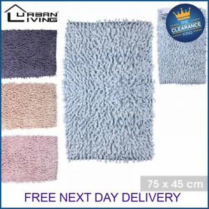 Fashion Soft Shaggy Bath Mat Non-slip Bathroom Rug Floor Mat