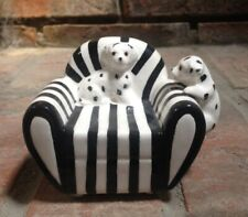 Vintage Porcelain Dalmation Puppies on Sofa Chair Collectible