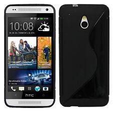 ACCESSORIES COVERS CASE COVER SILICONE GEL TPU S-LINE BLACK FILM HTC ONE MINI M4