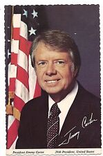 PRESIDENT JIMMY CARTER 39th US American United States Inaugurated 1977 Postcard