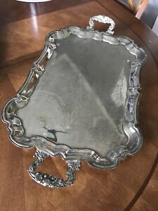 International Footed Silver Tray
