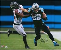 "Christian McCaffrey Carolina Panthers Autographed 16"" x 20"" Stiff Arm Photograph"