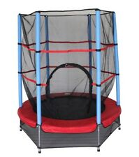 4.5ft junior Trampoline with internal safety net enclosure great fun trampoline