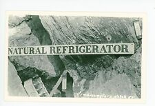 "Coca-Cola Bottles RPPC ""Natural Refrigerator"" Smugglers Notch Vintage Photo 40s"