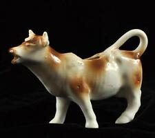 Cow Creamer Holder Ceramic W/ Brown Spots 3.75""