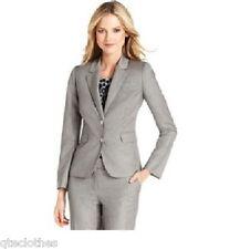 Calvin Klein $129 Silver Notched Collar Turnlock Two-Button Blazer Jacket 6 QCO