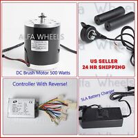 500 Wat 24 V Electric Go-Kart Motor T8F w Reverse Speed Control+Throttle+Charger