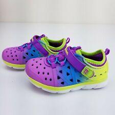 Stride Rite Phibian Magenta Girls Size 7 Toddler Water Shoes Purple