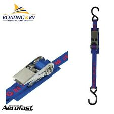 Heavy Duty Aerofast Gunwhale Stainless Ratchet Strap 25mm x 4.5m - S-Hook