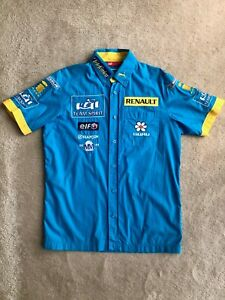 FERNANDO ALONSO RENAULT F1 VINTAGE PUMA PIT CREW SHIRT SMALL MEDIUM