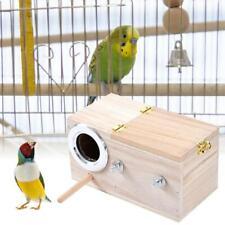 Parakeet Nest Box Bird House Budgie Wood Breeding For Lovebirds Parrotlets H0T9