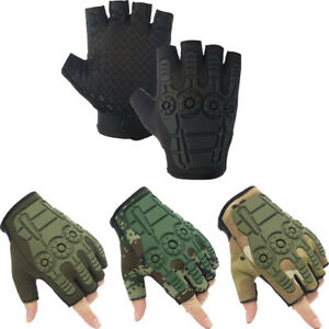 Men's Half Finger Tactical Gloves Military Outdoor Sports Hunting Cycling Climb