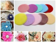50pcs Organza Fabric Circle Shapes Sheets 70mm Die Cuts Applique For Flower Maki