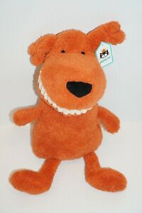 "Jellycat Orange Toothy Mutt Grinning Dog Plush Stuffed Animal 24"" Large"