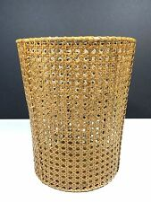 Waste Paper Basket Woven Cane