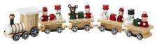 "Christmas Train White Wood Figurine 10x2"" Table Mantle Tree Decor Ganz"