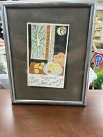 Nice By Henry Matisse Signed Print Framed 11x9""