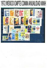 COMPLETE 1972 MEXICO Collection Complete Commemorative Year MNH (32 +1042a Var)