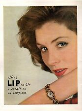 ▬► PUBLICITE ADVERTISING AD Montre Watch LIP or 1954