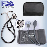 Aneroid Sphygmomanometer Stethoscope Kit Manual Blood Pressure Adult BP Cuff US