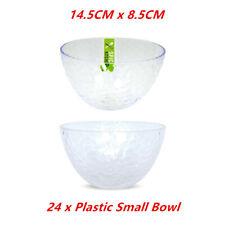 24 x PLASTIC RIPPLE SERVING BOWLS 14.5x8.5cm Reusable Plastic Catering Bowl