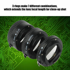 Auto Focusing Macro Extension Lens Adapter Tube Rings Set for Canon EOS EF Mount