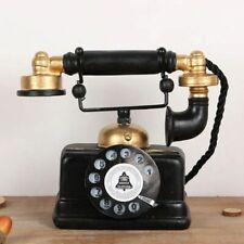 Vintage Telephone Model Display Antique Shabby Old Phone Home Office Decoration