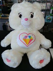 """Care Bear Sparkle Heart Bear Big 23"""" (1.9ft) Plush Doll Japan Limited Edition"""