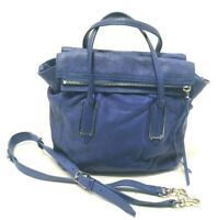 Botkier Royal Blue Leather Multi Magnetic Flap Tote/Crossbody Bag