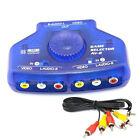 2-Way 2 Input 1 Output Audio Video AV RCA Switch Switcher Selector Splitter Box