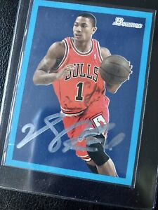2009 Bowman DERRICK ROSE AUTO ⭐️ Limited Edition Rookie Of year Bulls # 1