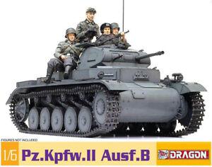 Pz.Kpfw.II Ausf.B Tank Panzerkampfwagen 2 Panzer 1:6 Model Kit Dragon 75025