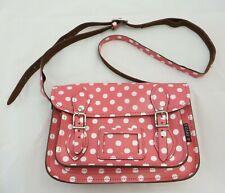 Yoshi Lichfield Pink Polka Dot Satchel Bag with adjustable shoulder strap