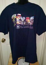 "Foot Locker Unisex Blue/Multi Color ""Texas"" T-Shirt Size XL"