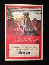 JULIE * DORIS DAY * LOUIS JOURDAN Barry Sullivan 1956 ARGENTINE 1sh MOVIE POSTER