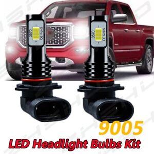 For GMC K1500 K2500 Suburban 2Pcs HB4 9006 LED Fog Driving Light Bulb 6000K