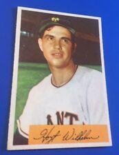 1954 Bowman Hoyt Wilhem #57 New York Giants Baseball Card EX-MT