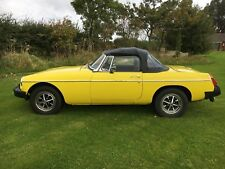 MGB ROADSTER 1981 YELLOW, BLACK INTERIOR, IN TOTALLY FIRST CLASS CONDITION.