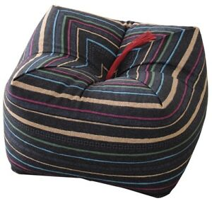 NEW Emule Japan made natural buckwheat seiza cushion soba pillow Striped cotton