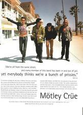 "MOTLEY CRUE take a stroll  magazine PHOTO / Pin Up /Poster 11x8"""