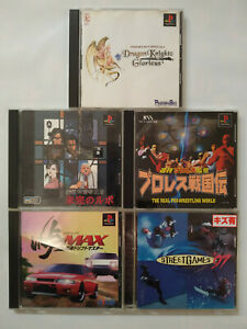 Playstation 1 Lot of 5 Games Dragon Knights Glorious Touge MAX Street Games '97