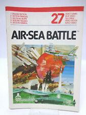 Anleitung - Handbuch - Bedienungsanleitung Atari - Air Sea Battle