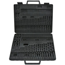 115pc HSS Drill Bit Set w/ Case Multipurpose Lengths Metalworking Wood Carpentry